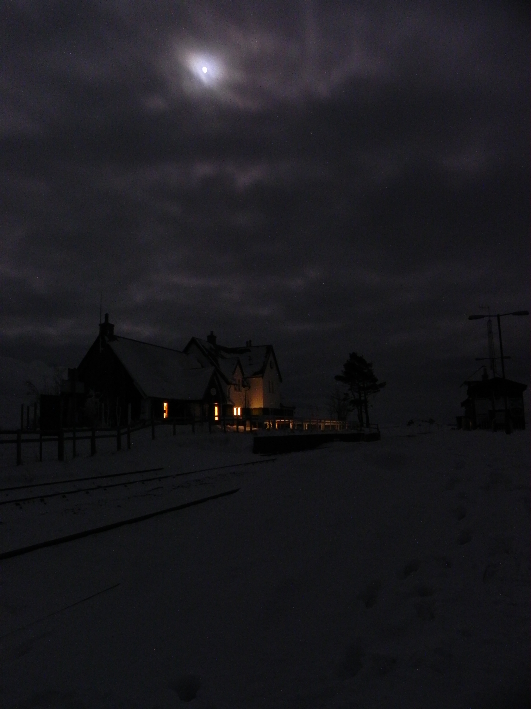 Corrour Station by night