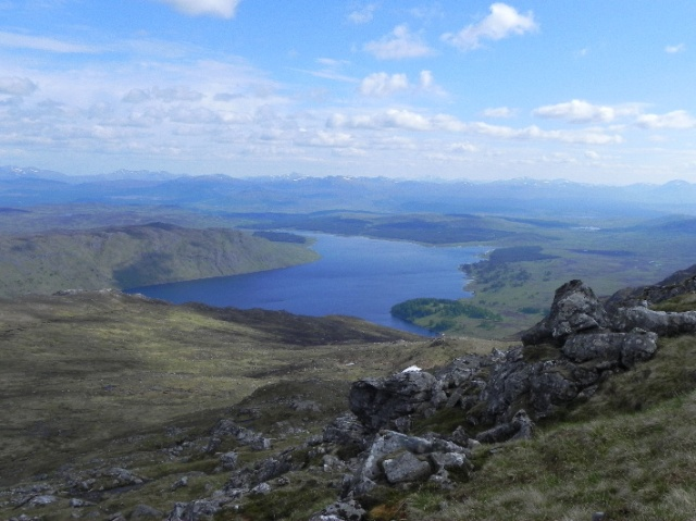 The Talladh-a-Bheithe windfarm will be visible from Ben Alder.